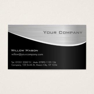 Svarten stålsätter verkställer, den yrkesmässiga visitkort