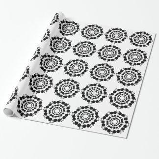 svarten stylized cyklar cirklar in presentpapper