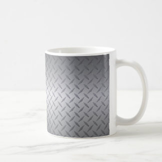 Svarten till ljust stålsätter bleknar Diamondplate Kaffemugg