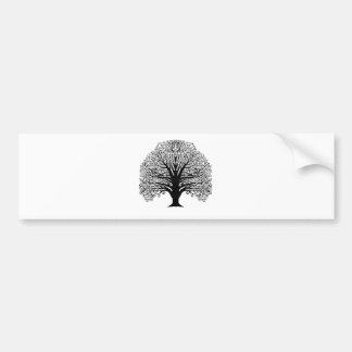 Svarten virvlar runt träd bildekal