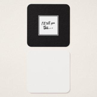 Svarten & vit kvadrerar noterar för att lämna fyrkantigt visitkort