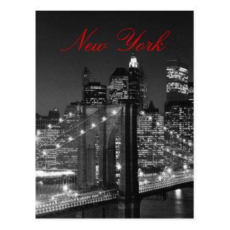 Svarten & vit röda New York skrivar vykortet Vykort