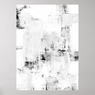 """Svartvit abstrakt Ar """"för Snowfall"""" Poster"""