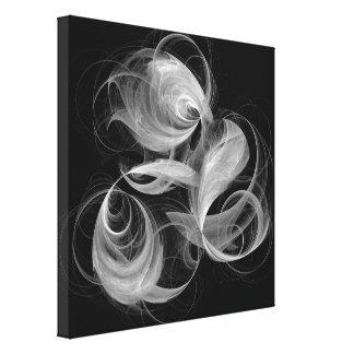 Svartvit abstrakt konst för Fireball Canvastryck
