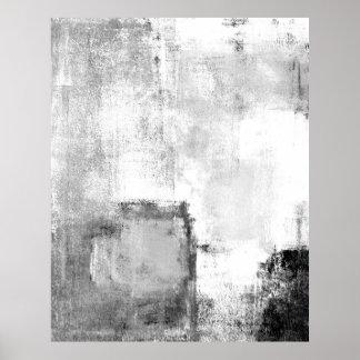 """Svartvit abstrakt konst """"för kurser"""" poster"""