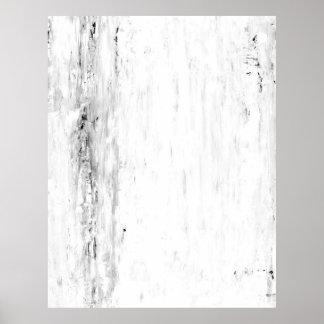"""Svartvit abstrakt konst """"för lavin"""" poster"""