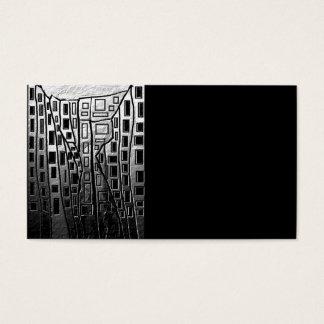 Svartvit abstrakt stad visitkort