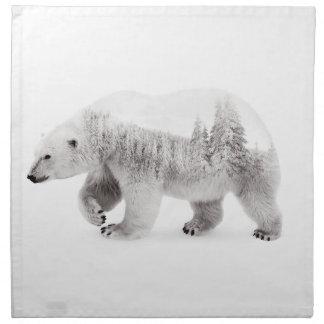 Svartvit arktisk björn tygservett