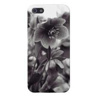 Svartvit Artsy blomma iPhone 5 Cases