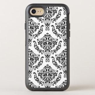 Svartvit blom- damast OtterBox symmetry iPhone 7 skal