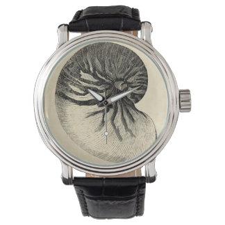 Svartvit Conchsnäcka för vintage Armbandsur