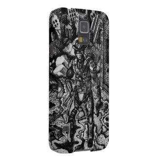 Svartvit cowboy Samsung s5 Galaxy S5 Fodral