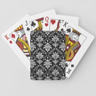 Svartvit damast casinokort