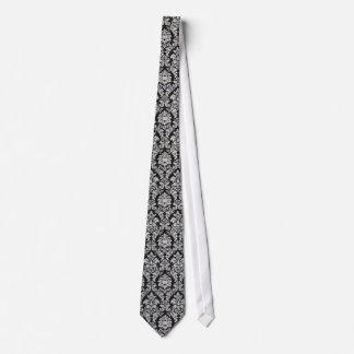 Svartvit damast slips
