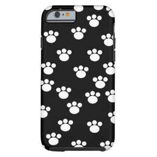 Svartvit djur tassmodell tough iPhone 6 fodral