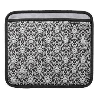 Svartvit elegant damast iPad sleeve