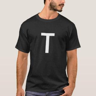 Svartvit enkel T Tshirts