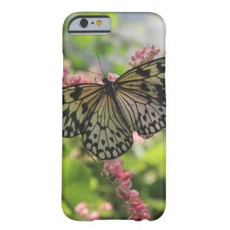 Svartvit fjäril på rosa blommor barely there iPhone 6 skal