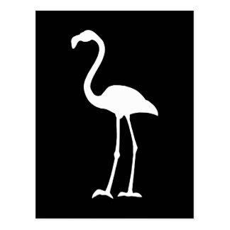 Svartvit Flamingo Vykort