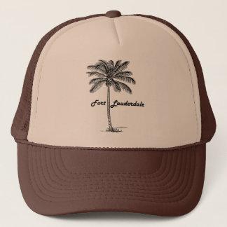 Svartvit Fort Lauderdale & handflatandesign Keps