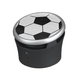 Svartvit fotbollbollhögtalare speaker