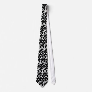 Svartvit fredstecken slips