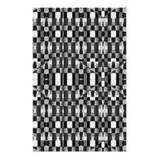 Svartvit geometrisk stam- Pattern| Brevpapper