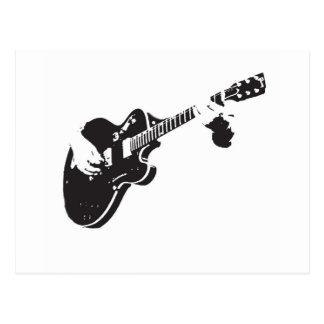 Svartvit gitarr