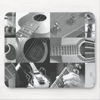 Svartvit gitarrfotografiCollage - Musmatta