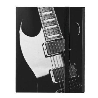 Svartvit gitarrmusik för Monogram iPad Skal