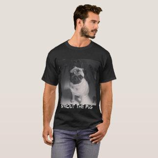 Svartvit grodd t-shirt