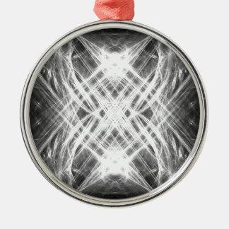 Svartvit grungepunk julgransprydnad metall