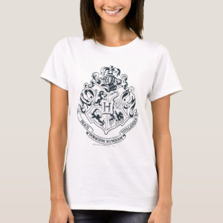 Svartvit Harry Potter | Hogwarts vapensköld - T-shirts