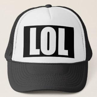 Svartvit hatt för LOL Truckerkeps