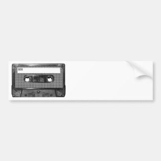 Svartvit Houndstooth kassett Bildekal