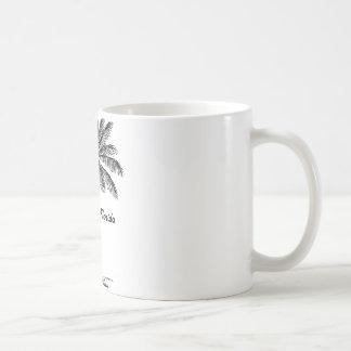 Svartvit Jacksonville & handflatandesign Kaffemugg