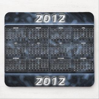 Svartvit kalender 2012 för Mousepad Musmattor