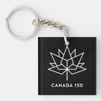 Svartvit Kanada 150 officielllogotyp -