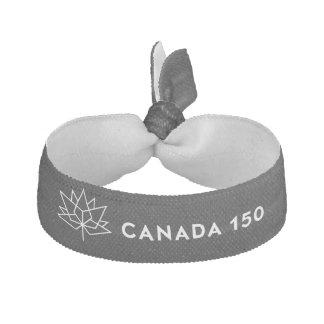 Svartvit Kanada 150 officielllogotyp - Hårsnodd