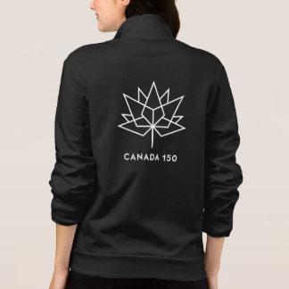Svartvit Kanada 150 officielllogotyp - Jacka