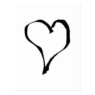 Svartvit kärlekhjärtadesign vykort