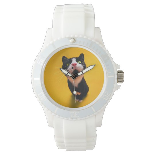 Svartvit katt-smoking katt-husdjur armbandsur