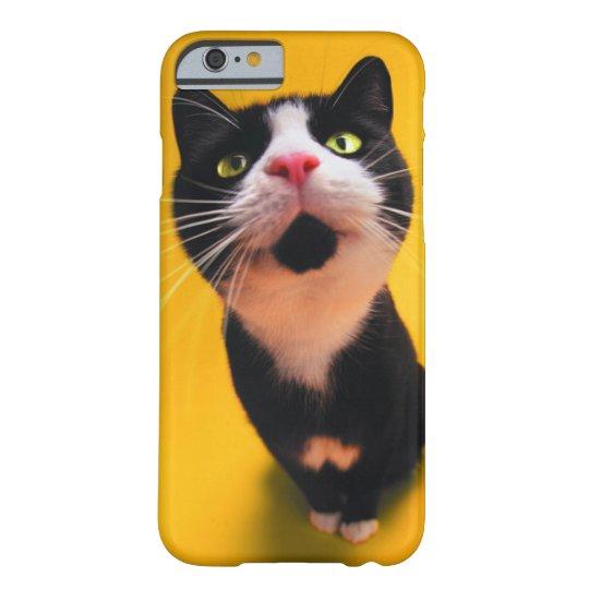 Svartvit katt-smoking katt-husdjur barely there iPhone 6 skal