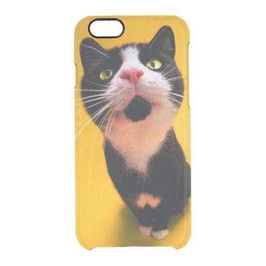 Svartvit katt-smoking katt-husdjur clear iPhone 6/6S skal