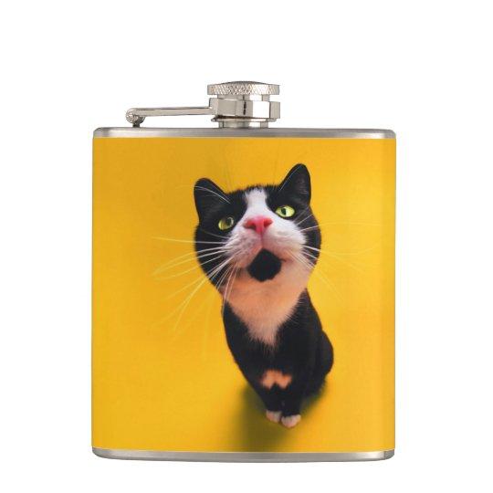 Svartvit katt-smoking katt-husdjur fickplunta