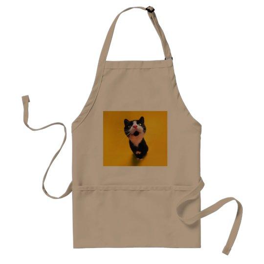 Svartvit katt-smoking katt-husdjur förkläde