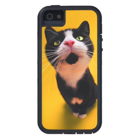 Svartvit katt-smoking katt-husdjur iPhone 5 Case-Mate fodraler
