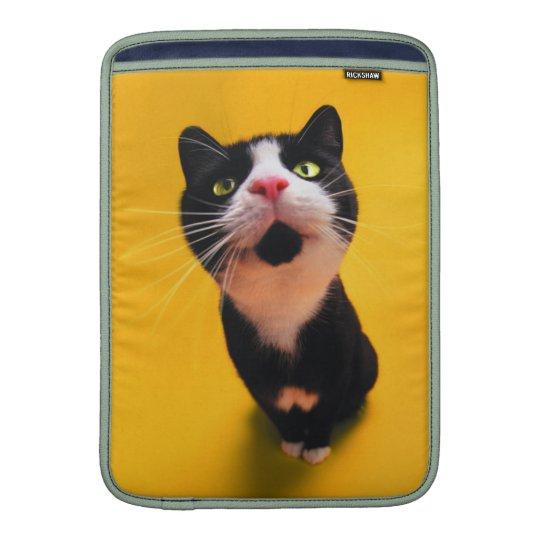 Svartvit katt-smoking katt-husdjur MacBook air sleeves