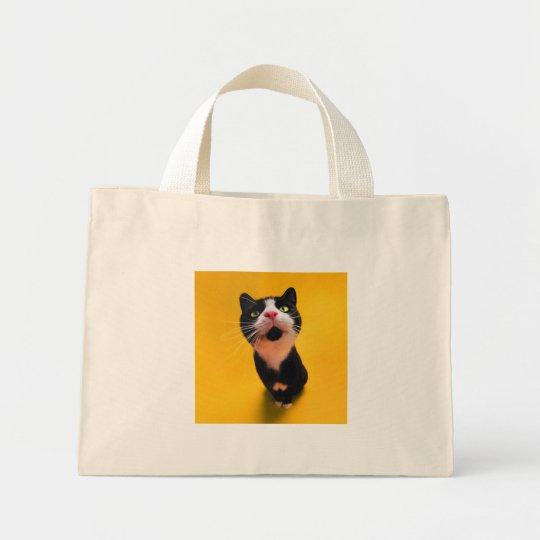 Svartvit katt-smoking katt-husdjur mini tygkasse