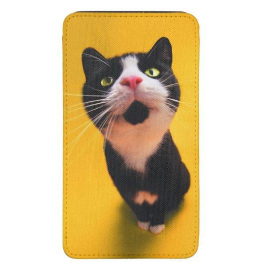Svartvit katt-smoking katt-husdjur mobil fodral ficka